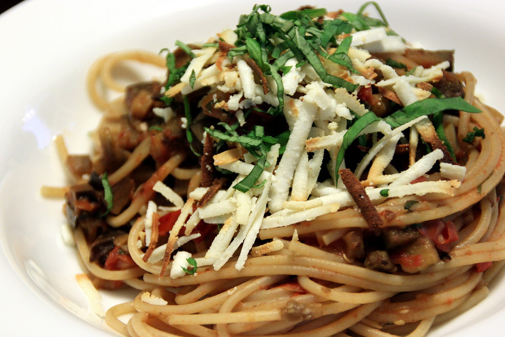 ...or a delicate pasta alla norma, should you?