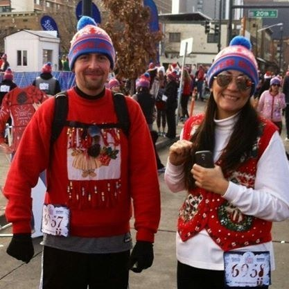 By December, the couple had lost an astonishing amount of weight. They even enrolled in a 5k (which Jessica won).