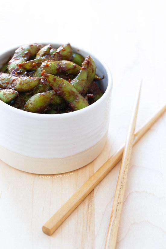 Spicy Miso Edamame