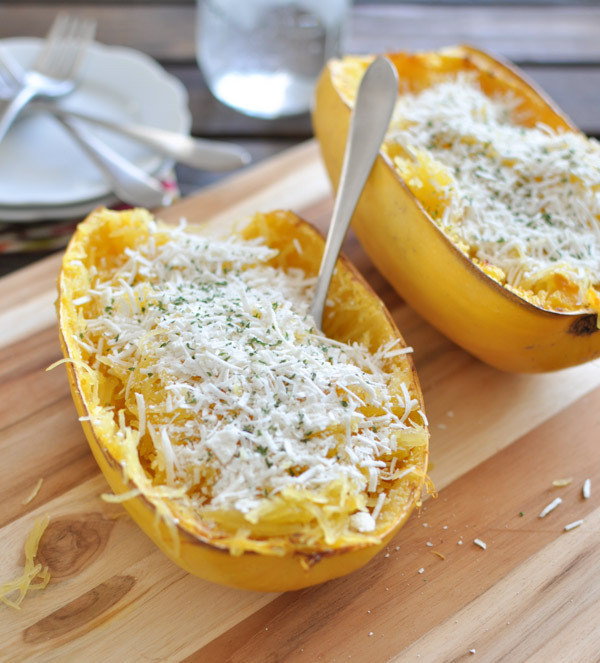 Cheese and Browned Butter Spaghetti Squash